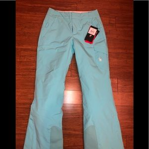 NWT Spyder me athletic fit pants 6 Tiffany's color